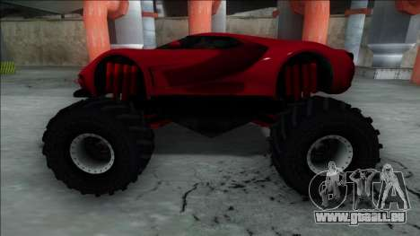 GTA V Vapid FMJ Monster Truck pour GTA San Andreas vue de droite