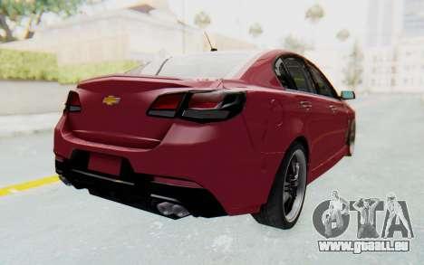 Chevrolet Super Sport 2014 pour GTA San Andreas laissé vue