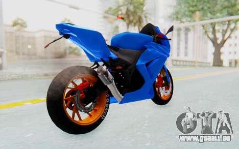 Kawasaki Ninja 250R Streetrace pour GTA San Andreas sur la vue arrière gauche
