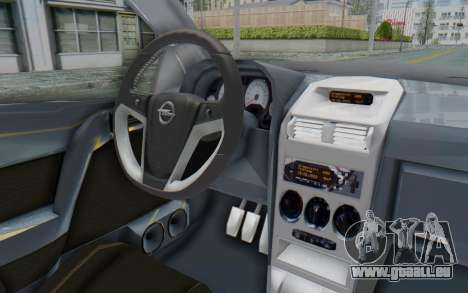 Opel Bertone pour GTA San Andreas vue intérieure