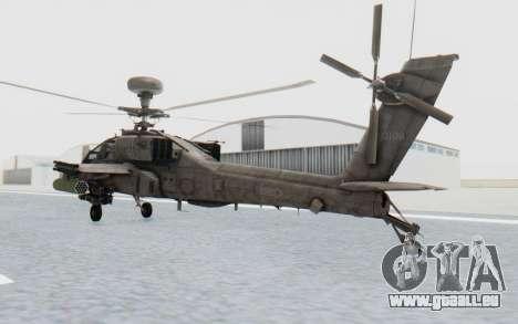 AH-64 Apache Desert für GTA San Andreas linke Ansicht