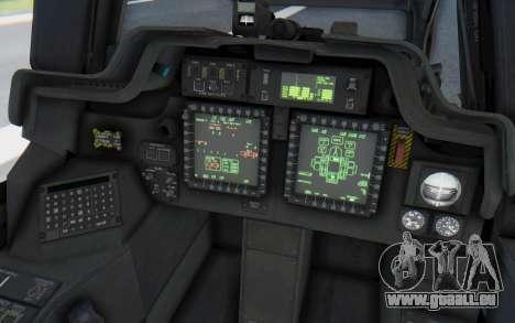 AH-64 Apache Desert pour GTA San Andreas vue intérieure