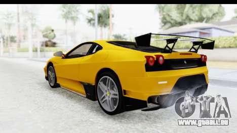 Ferrari F430 SVR pour GTA San Andreas sur la vue arrière gauche