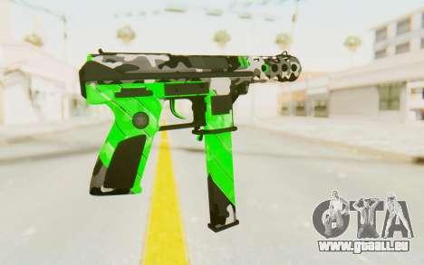 Tec-9 Neural Green für GTA San Andreas zweiten Screenshot