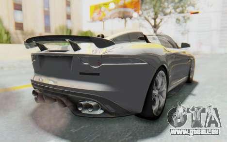 Jaguar F-Type Project 7 pour GTA San Andreas laissé vue