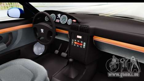 Peugeot 406 Cabrio Beta 0.8.3 pour GTA San Andreas vue intérieure