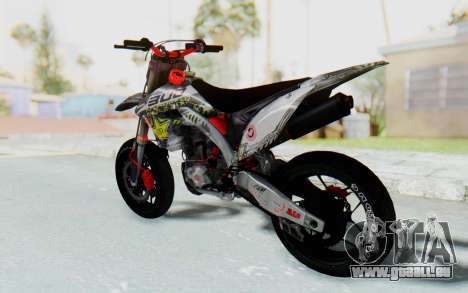 Kawasaki KX125 Supermoto v2 High Modif für GTA San Andreas linke Ansicht