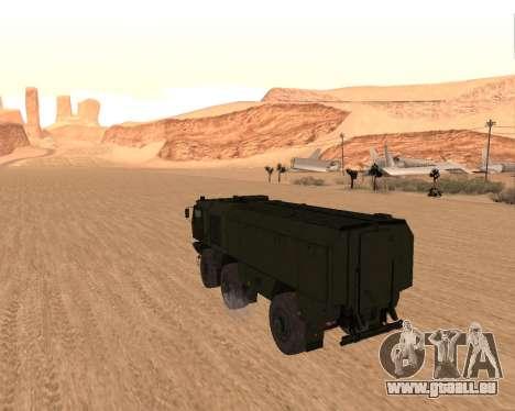 KAMAZ 63968 Typhon pour GTA San Andreas sur la vue arrière gauche