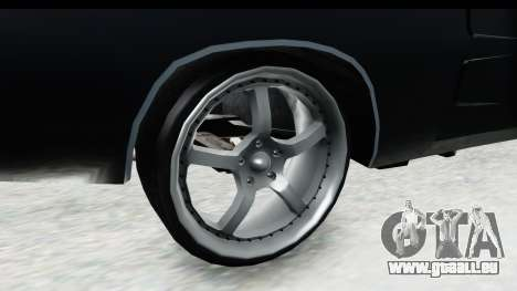Dodge Charger Daytona F&F für GTA San Andreas Rückansicht