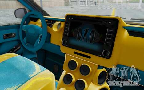 GTA 5 Vapid Minivan Custom IVF für GTA San Andreas Innenansicht