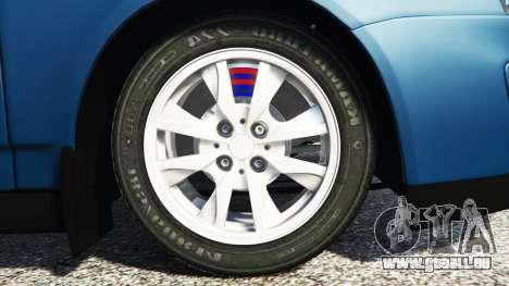 GTA 5 Lada Priora Sport Coupe v0.1 hinten rechts