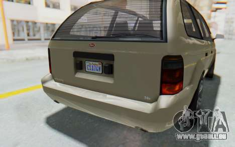 GTA 5 Vapid Minivan IVF pour GTA San Andreas vue de dessus