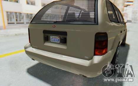 GTA 5 Vapid Minivan IVF für GTA San Andreas obere Ansicht