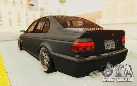 BMW M5 E39 M-Tech USDM pour GTA San Andreas laissé vue