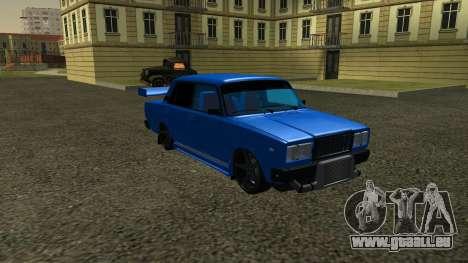 VAZ 2107 Sport pour GTA San Andreas sur la vue arrière gauche