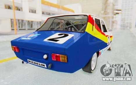 Dacia 1300 Rally pour GTA San Andreas laissé vue