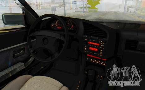 BMW 325tds E36 pour GTA San Andreas vue intérieure