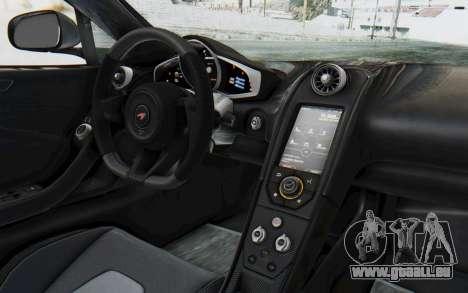 McLaren 650S Spyder ZenWorks pour GTA San Andreas vue intérieure
