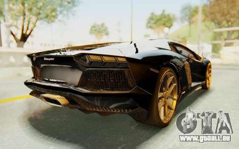 Lamborghini Aventador LP700-4 Light Tune pour GTA San Andreas sur la vue arrière gauche