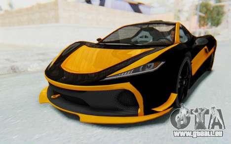 GTA 5 Progen T20 Devil PJ für GTA San Andreas Motor