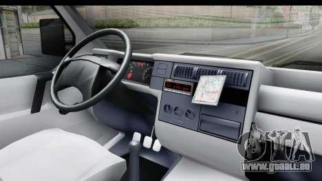 Volkswagen T4 pour GTA San Andreas vue intérieure