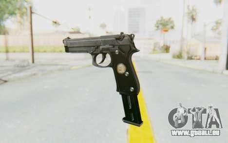 Tariq Iraqi Pistol Back v1 Silver Long Ammo für GTA San Andreas zweiten Screenshot