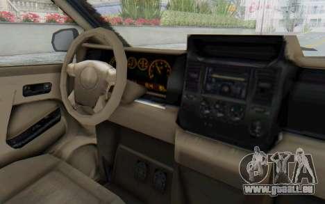 GTA 5 Vapid Minivan Custom without Hydro pour GTA San Andreas vue intérieure