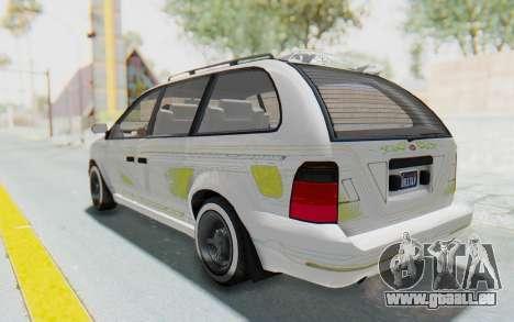 GTA 5 Vapid Minivan Custom pour GTA San Andreas salon
