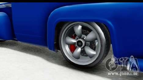 GTA 5 Vapid Slamvan Custom für GTA San Andreas Rückansicht