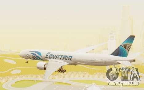 Boeing 777-300ER EgyptAir für GTA San Andreas rechten Ansicht