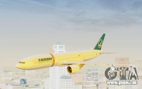 Boeing 777-200 TAROM Romania für GTA San Andreas zurück linke Ansicht