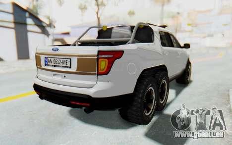 Ford Explorer Pickup pour GTA San Andreas laissé vue
