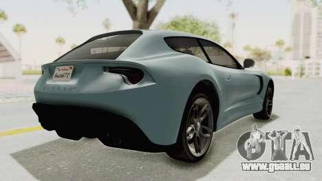 GTA 5 Grotti Bestia GTS v2 SA Lights pour GTA San Andreas laissé vue