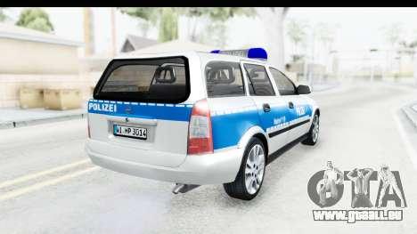 Opel Astra G Variant Polizei Hessen pour GTA San Andreas sur la vue arrière gauche