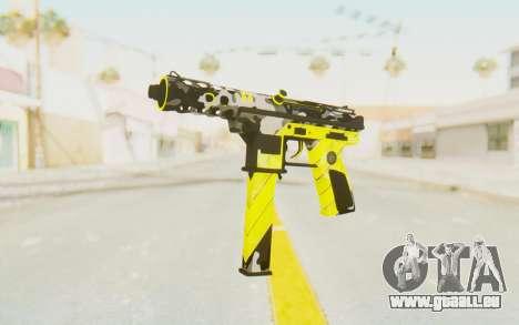 Tec-9 Neural Yellow für GTA San Andreas