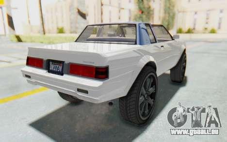 GTA 5 Willard Faction Custom Donk v2 für GTA San Andreas zurück linke Ansicht