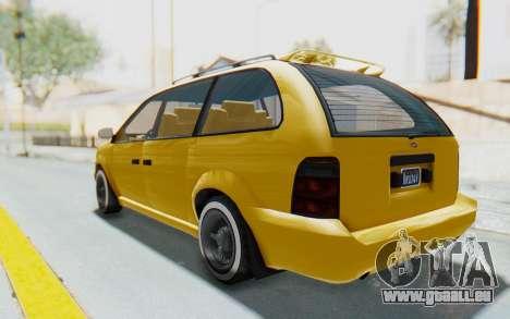 GTA 5 Vapid Minivan Custom IVF pour GTA San Andreas laissé vue