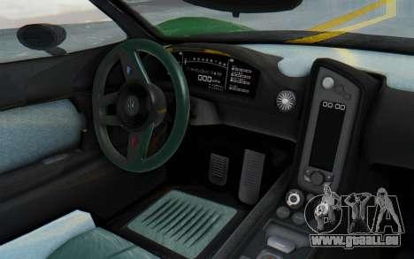 GTA 5 Progen T20 Devil PJ für GTA San Andreas Innenansicht