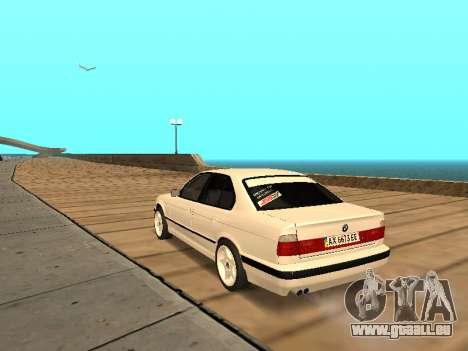 BMW E34 - EK edition pour GTA San Andreas sur la vue arrière gauche