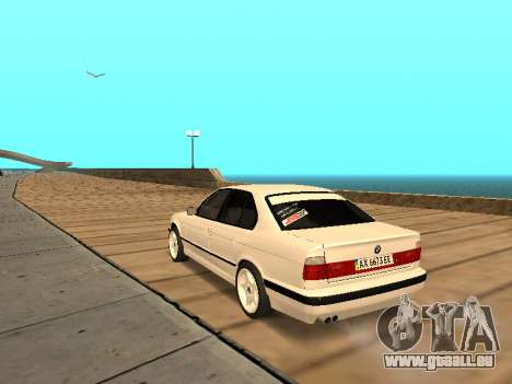BMW E34 - EK edition für GTA San Andreas zurück linke Ansicht