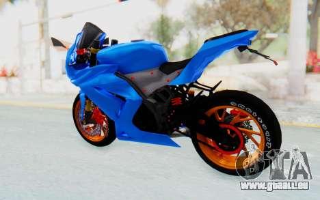 Kawasaki Ninja 250R Streetrace für GTA San Andreas linke Ansicht