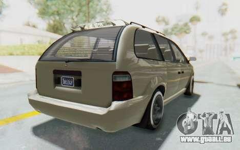 GTA 5 Vapid Minivan Custom without Hydro IVF pour GTA San Andreas vue de droite