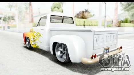 GTA 5 Vapid Slamvan without Hydro IVF pour GTA San Andreas roue