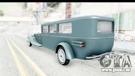 Unique V16 Fordor für GTA San Andreas rechten Ansicht
