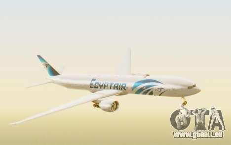 Boeing 777-300ER EgyptAir für GTA San Andreas zurück linke Ansicht