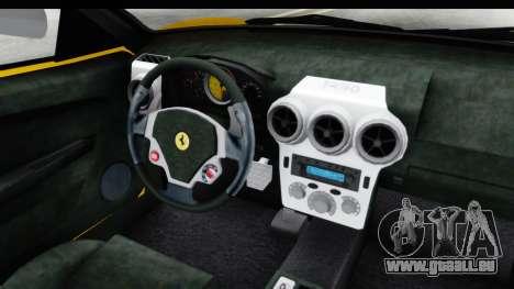 Ferrari F430 SVR pour GTA San Andreas vue intérieure