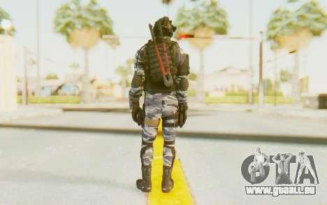 Federation Elite SMG Urban-Navy für GTA San Andreas dritten Screenshot