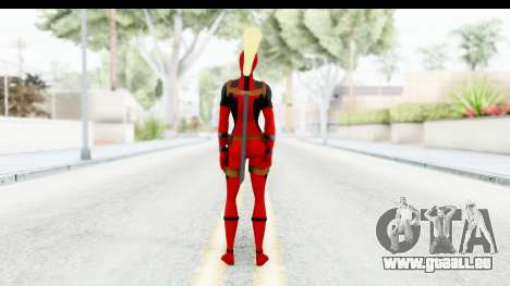 Marvel Heroes - Lady Deadpool für GTA San Andreas dritten Screenshot