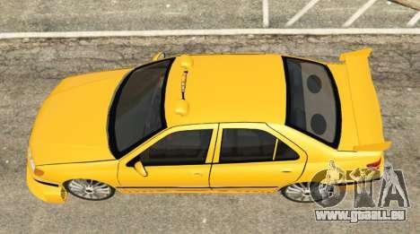 GTA 5 Taxi Peugeot 406 Rückansicht