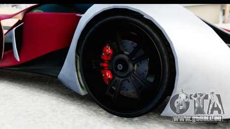 GTA 5 Grotti X80 Proto SA Lights pour GTA San Andreas vue arrière